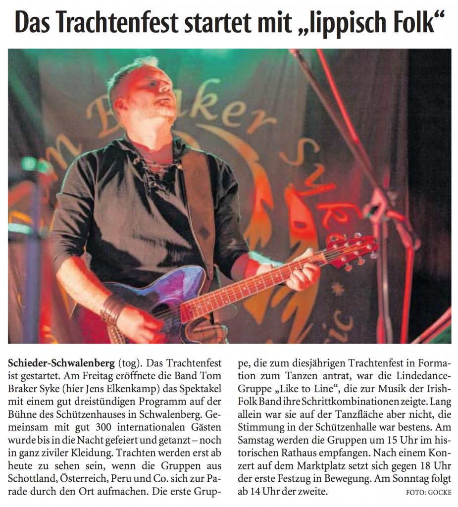 Quelle: Lippische Landeszeitung 06./07.08.2016